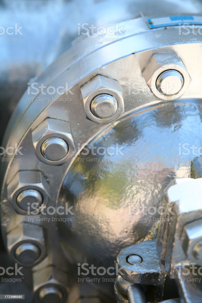 Piping flange royalty-free stock photo