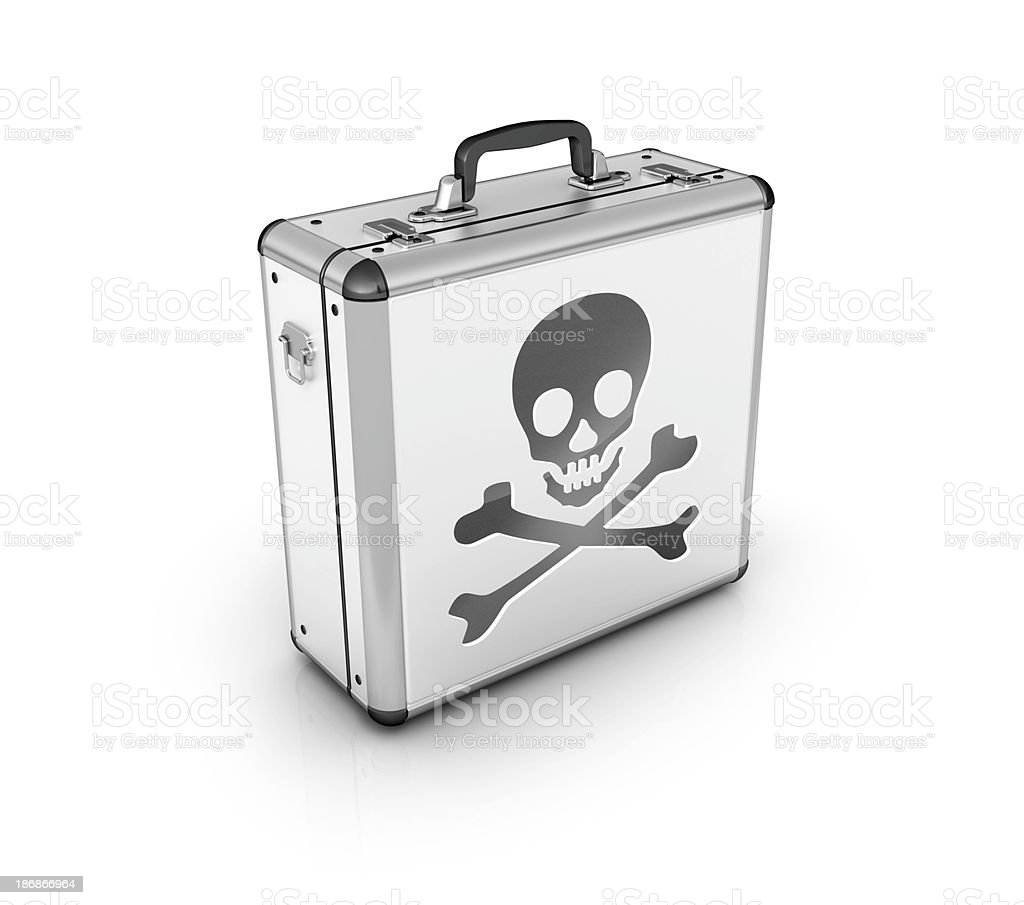 piracy or danger breifcase royalty-free stock photo