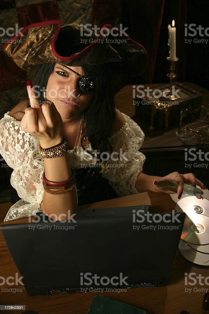 Piracy stock photo