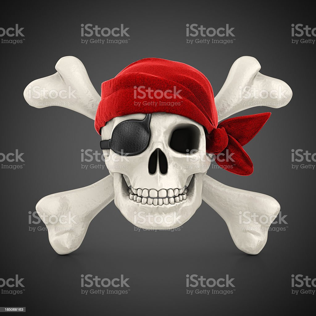 piracy symbol stock photo