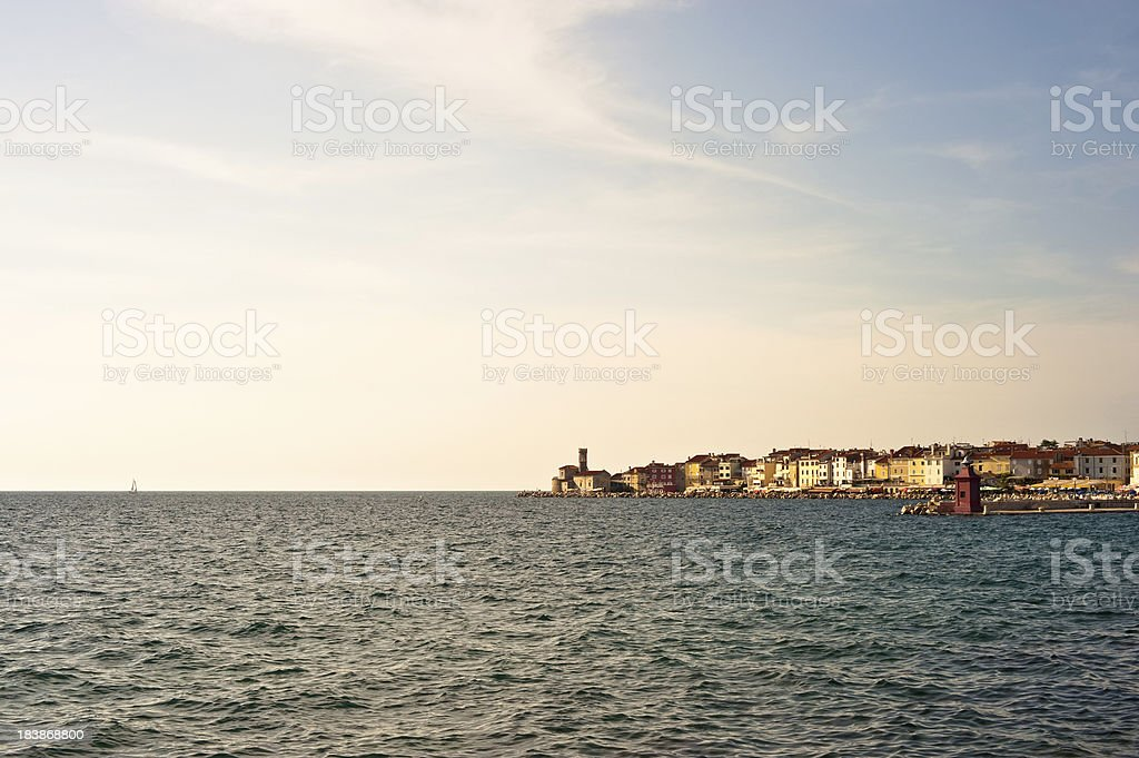 Piran Slovenia Mediterranean Sea stock photo