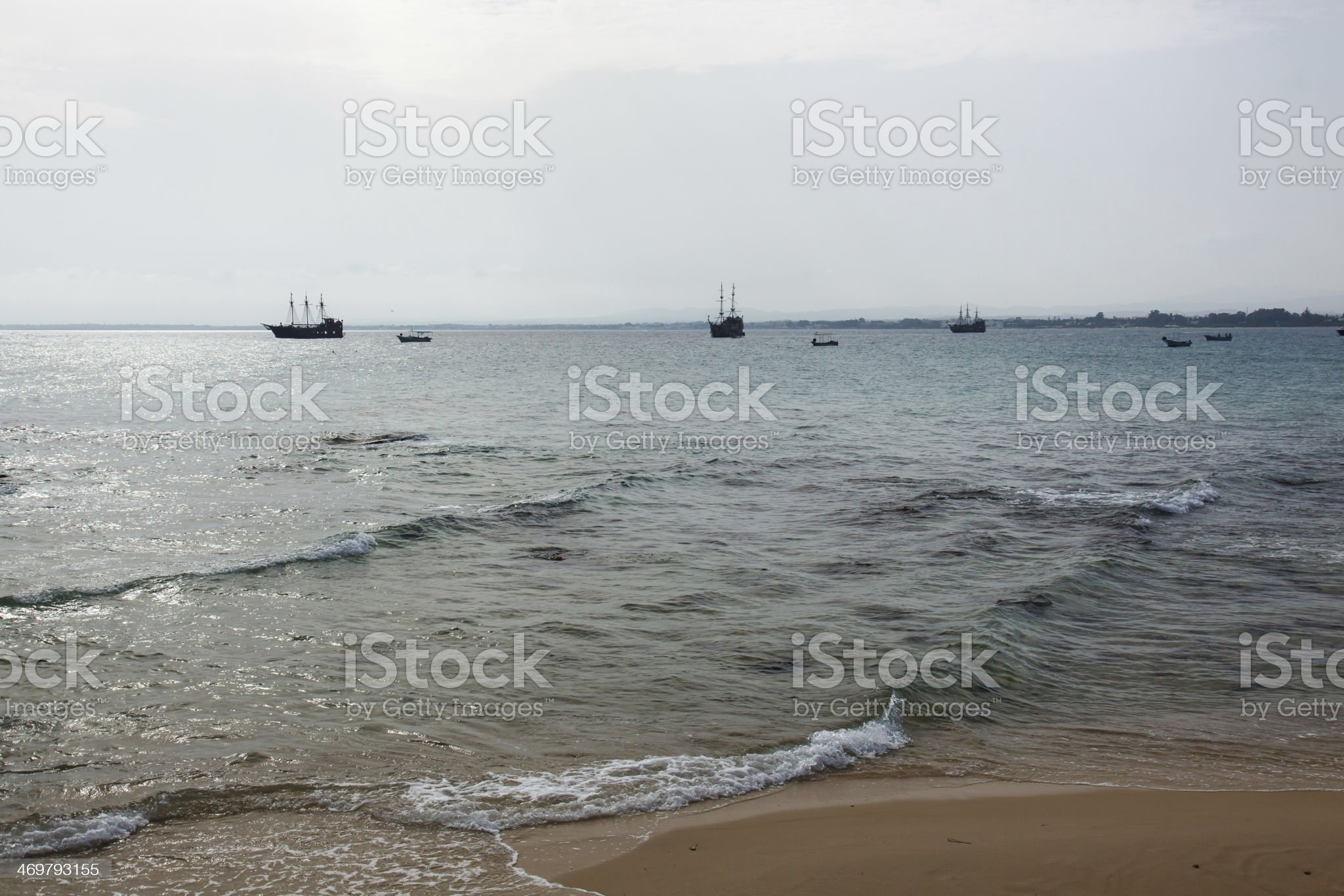 Pirate boat royalty-free stock photo