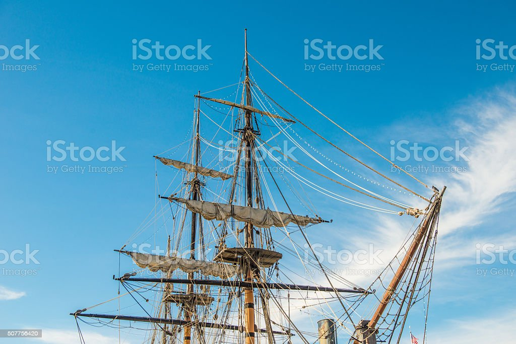 Pirate boat stock photo