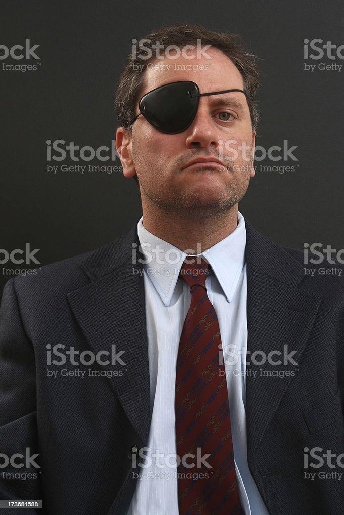 Pirate businessman stock photo
