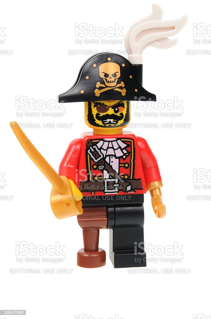 Pirate Captain Lego Series 8 Minifigure stock photo