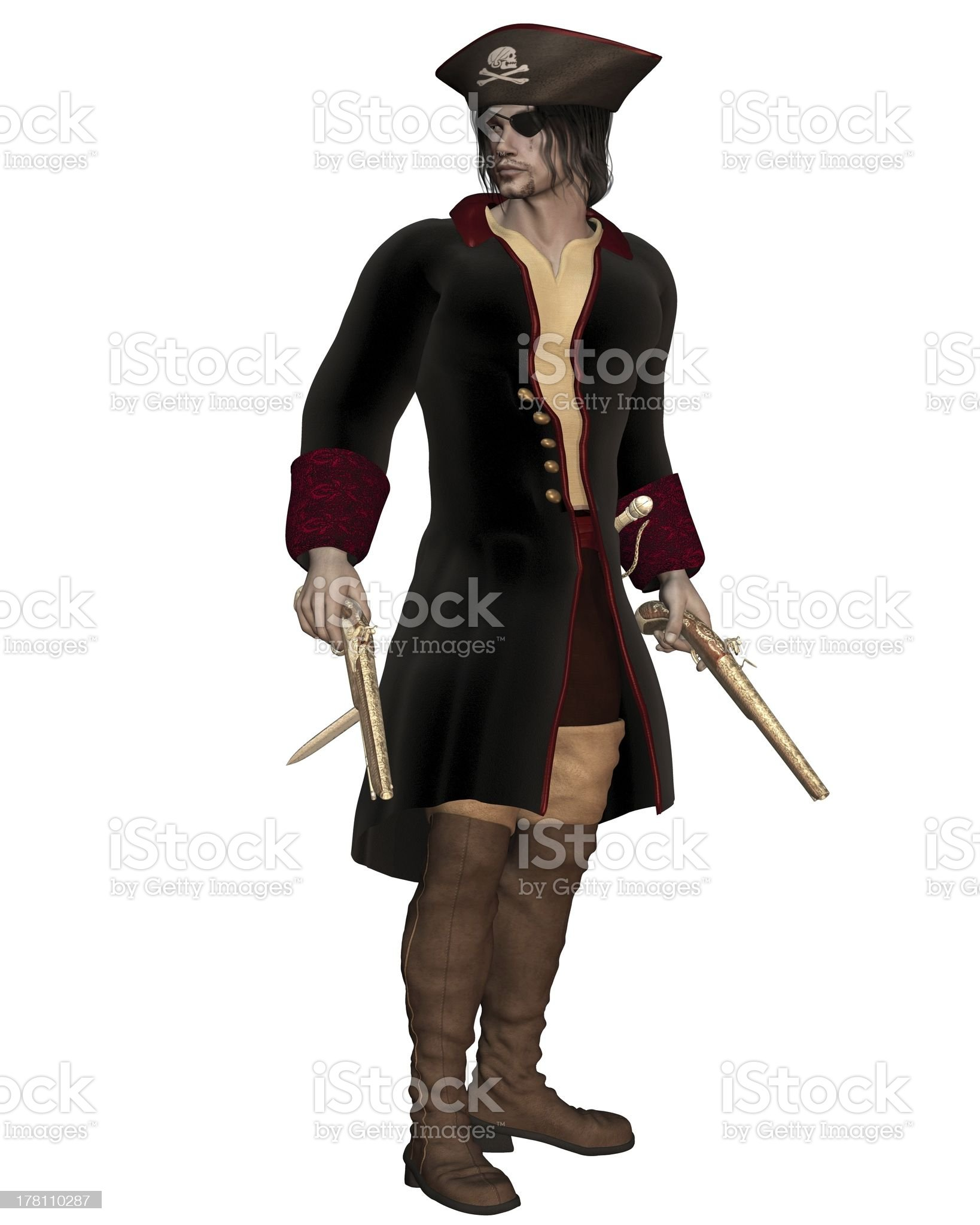 Pirate Captain royalty-free stock photo