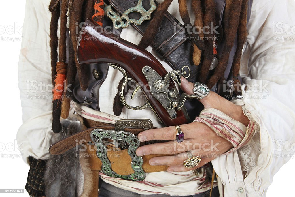 Pirate Close-Up royalty-free stock photo