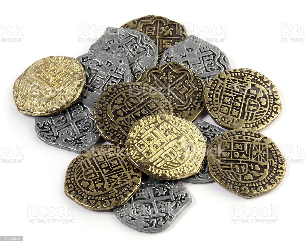 Pirate Coins royalty-free stock photo
