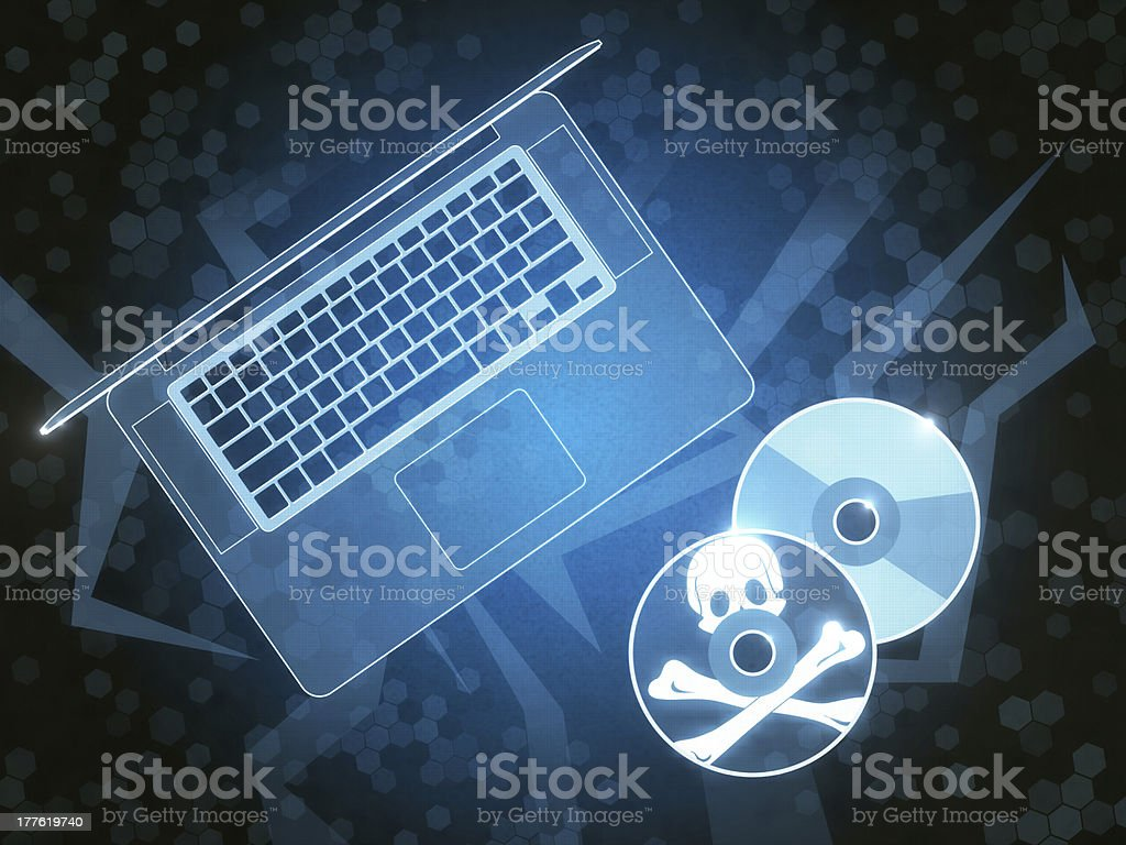 Pirate Computer Disc royalty-free stock photo