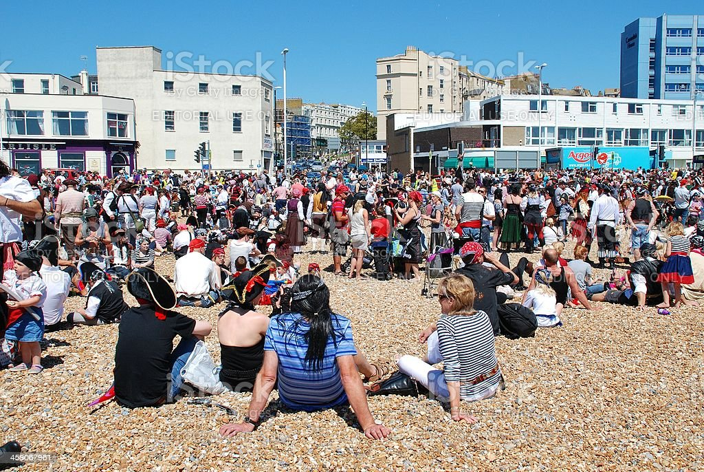 Pirate Day, Hastings royalty-free stock photo