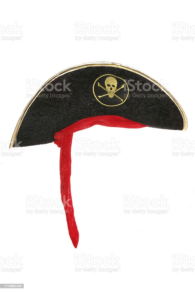 Pirate fancy dress hat stock photo