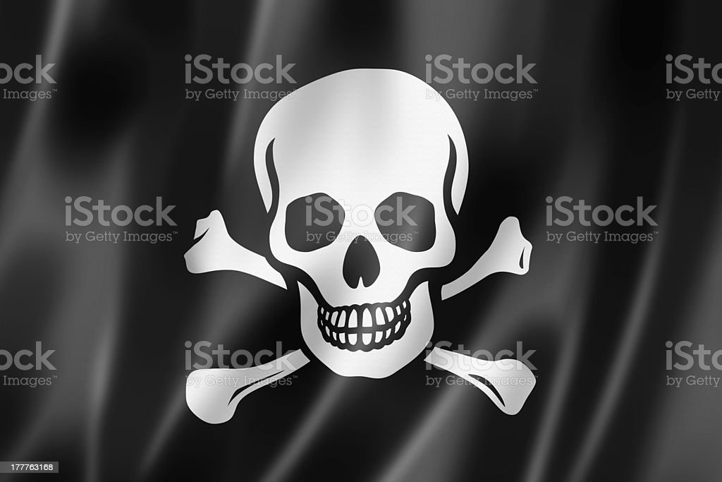 Pirate flag, Jolly Roger royalty-free stock photo