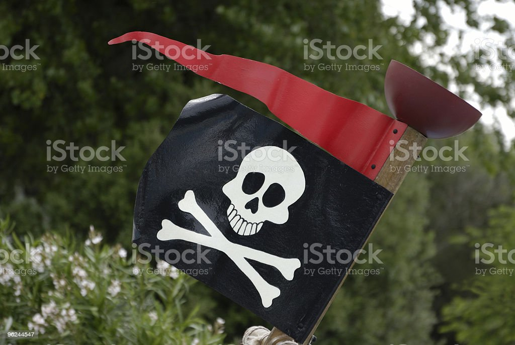 pirate flag royalty-free stock photo