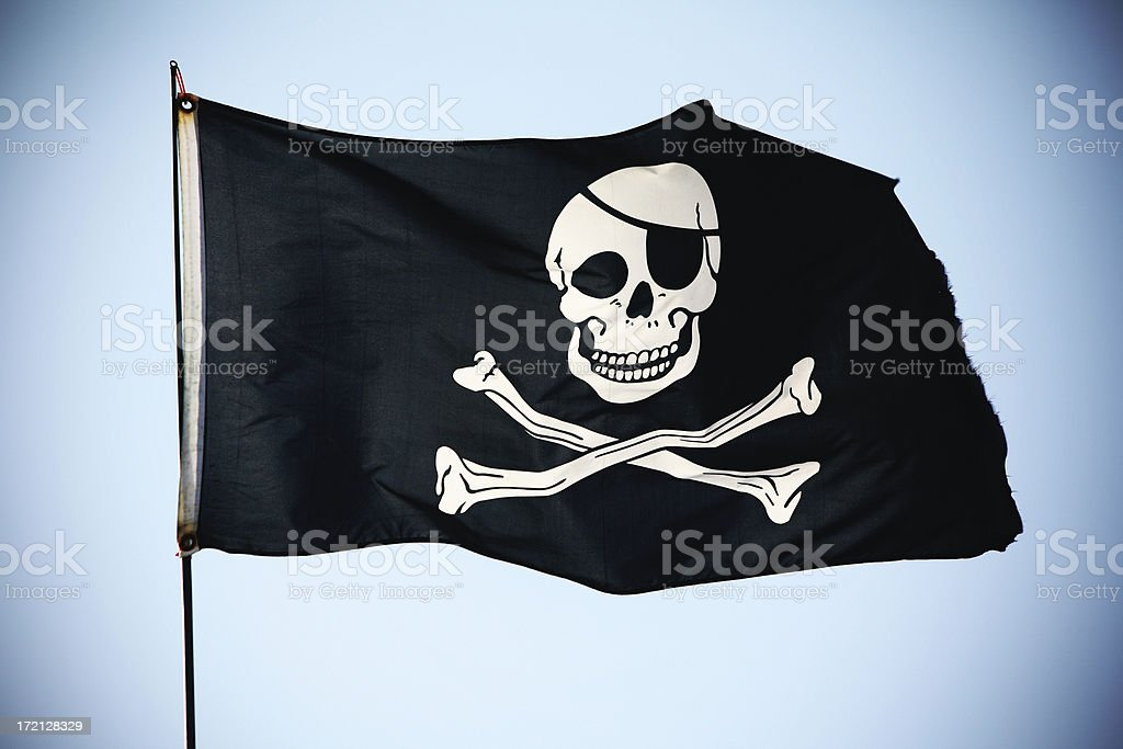 Pirate Flag XL royalty-free stock photo