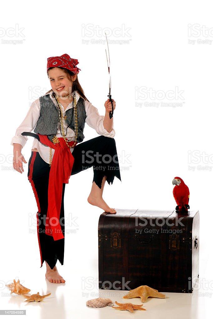 Pirate Girl royalty-free stock photo