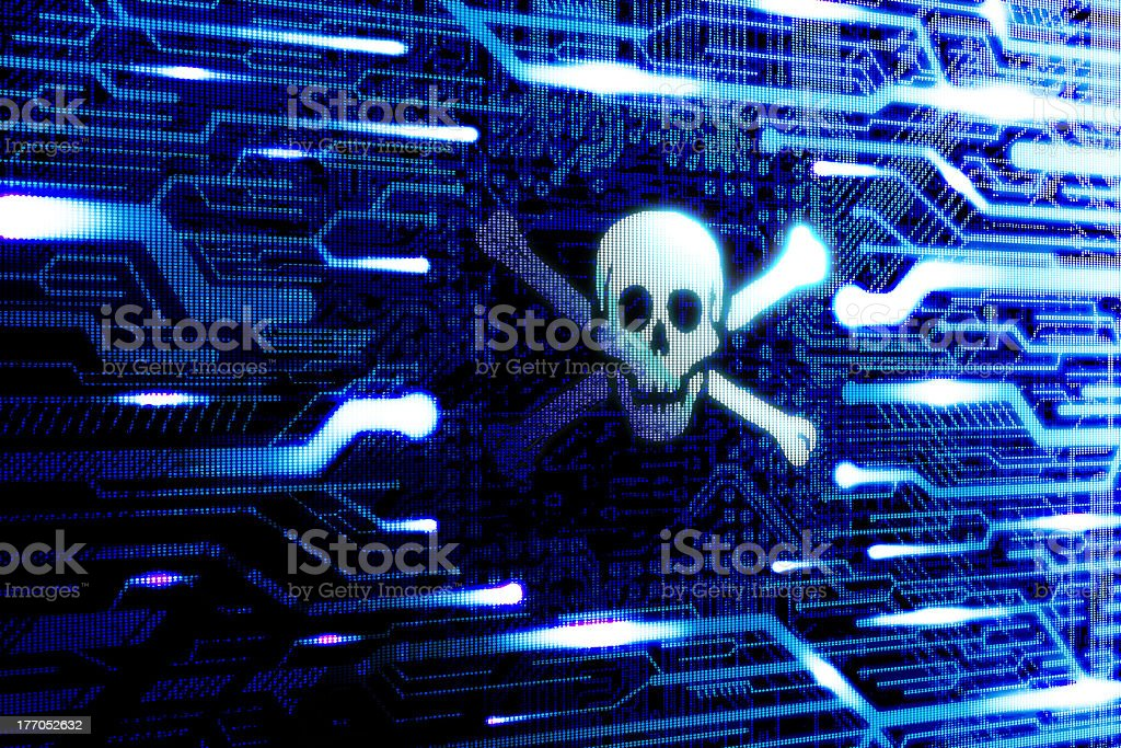 Pirate internet software stock photo