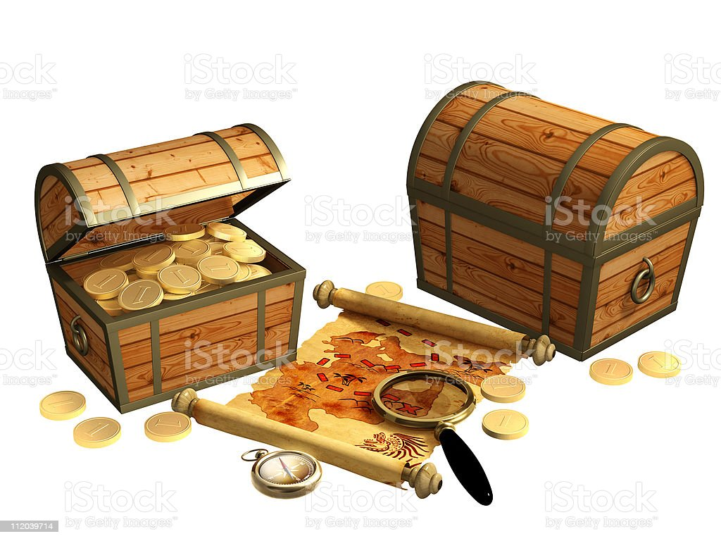 Pirate map royalty-free stock photo
