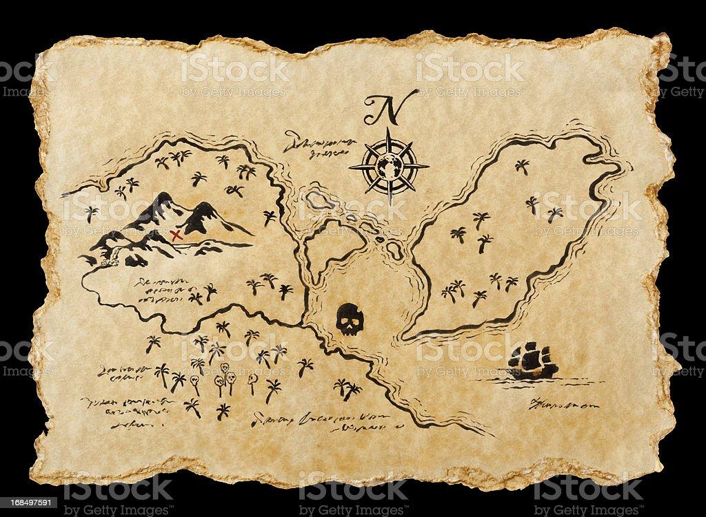 Pirate Map stock photo
