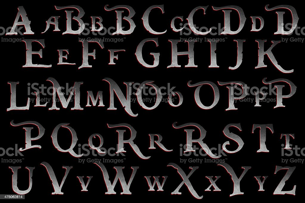 Pirate Mutiny Alphabet Collection stock photo