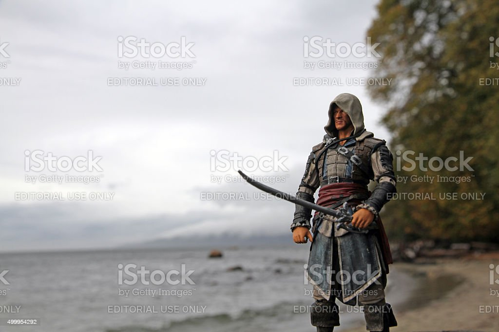Pirate on the Shore stock photo