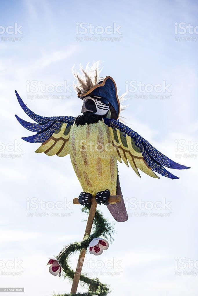 Pirate Parrot Rose Parade 2016 stock photo