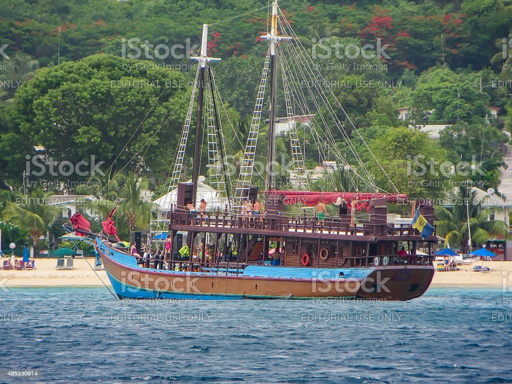 Pirate Party Boat stock photo