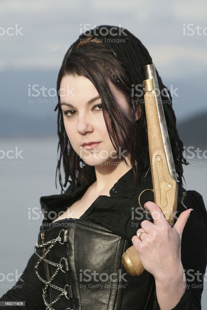 Pirate Queen royalty-free stock photo