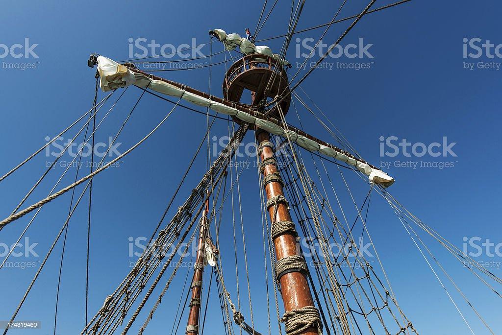 Pirate Sailing Ship royalty-free stock photo
