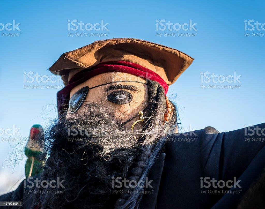 Pirate Scarecrow stock photo