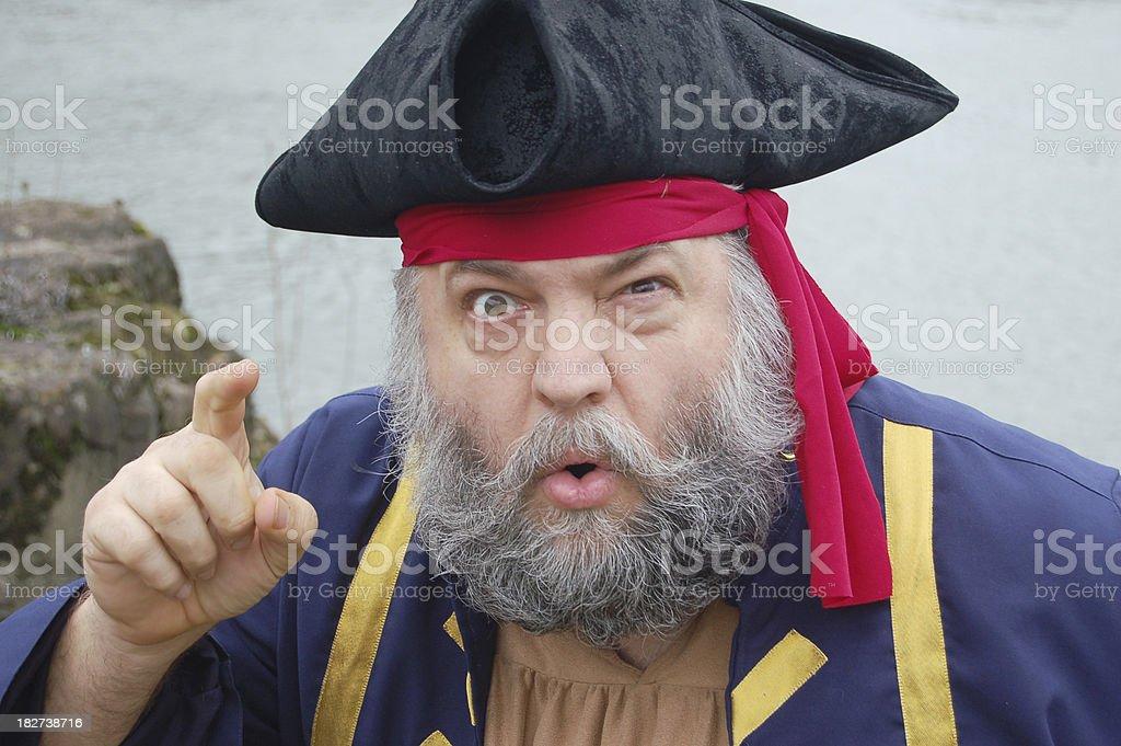 Pirate Scolding stock photo