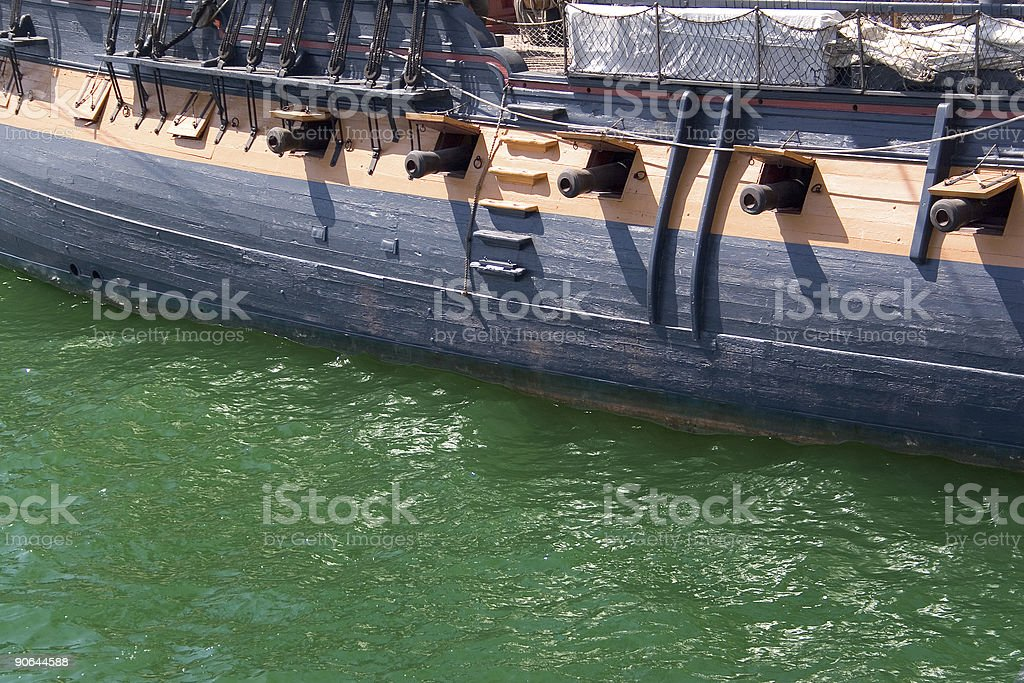 Pirate Ship w/ Cannons royalty-free stock photo