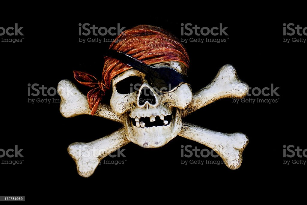 pirate skull crossbone royalty-free stock photo