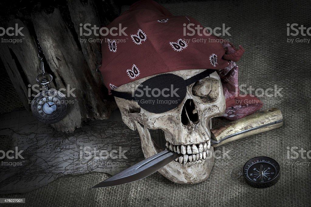 Pirate skull royalty-free stock photo