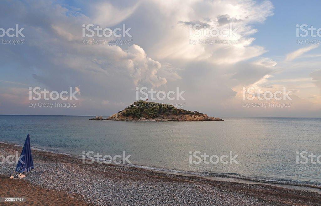 Pirate İsland - Bozyazi - Turkey stock photo