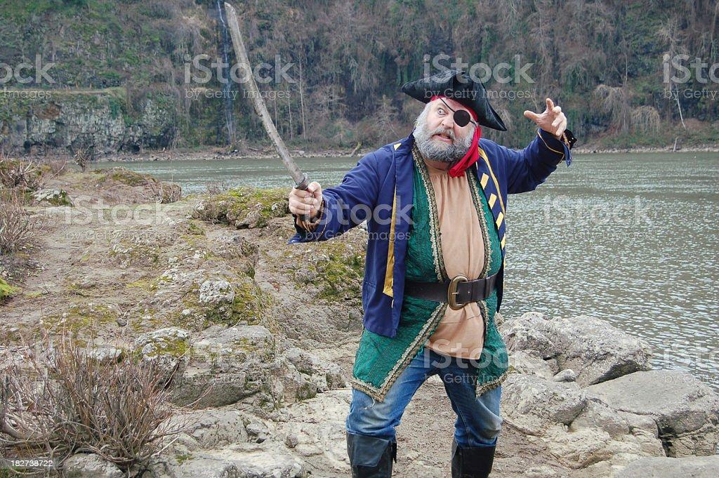 Pirate Sword Fight stock photo