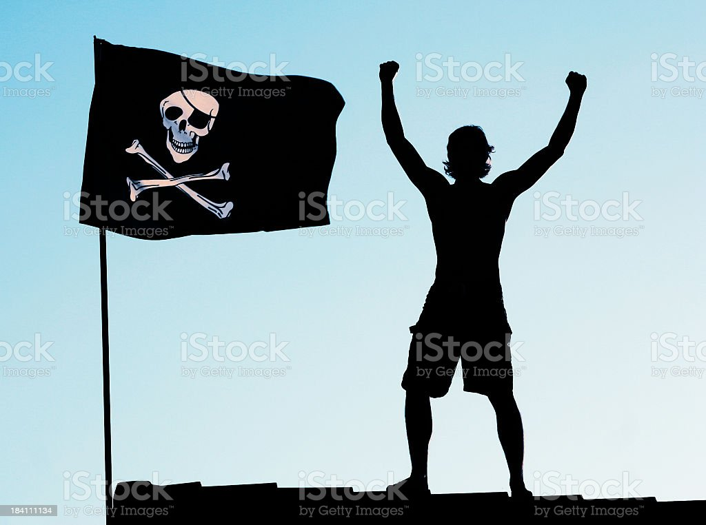 Pirate Victory royalty-free stock photo