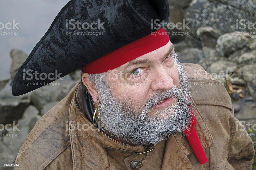 Pirate Wants Answers stock photo