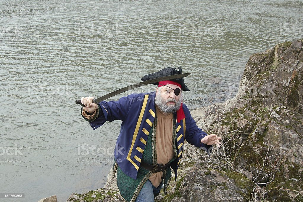 Pirate with Eye Patch stock photo