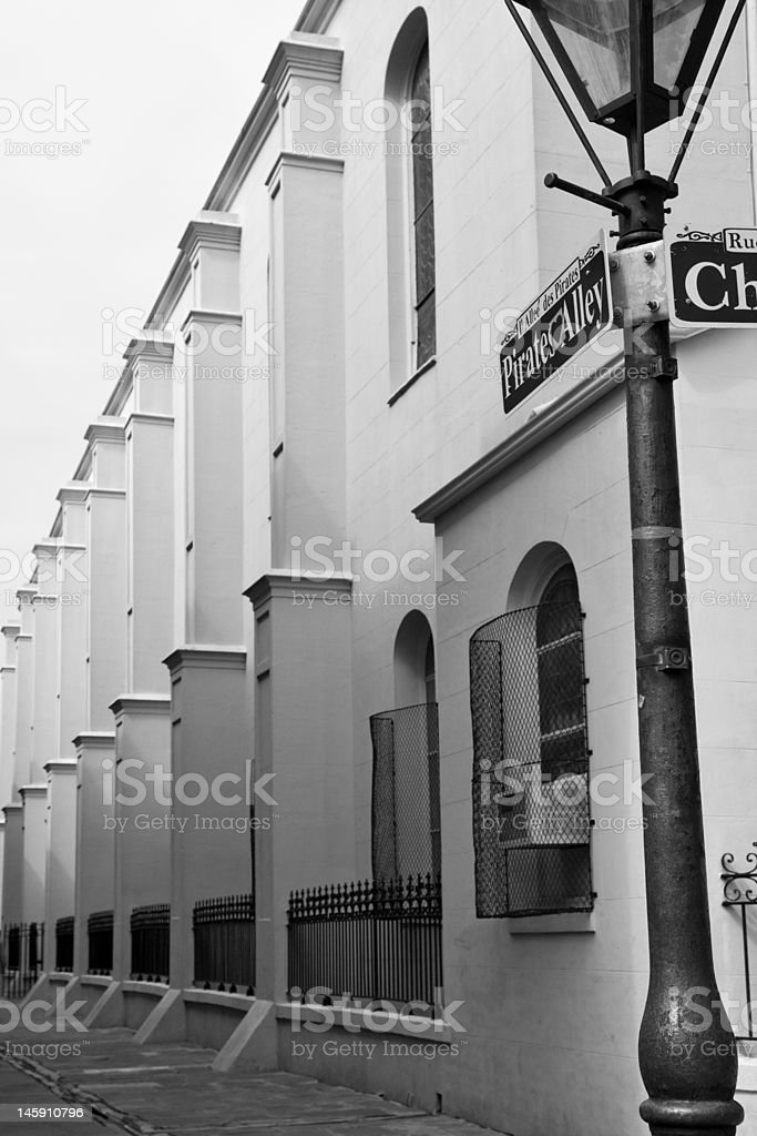 Pirate's Alley, New Orleans royalty-free stock photo