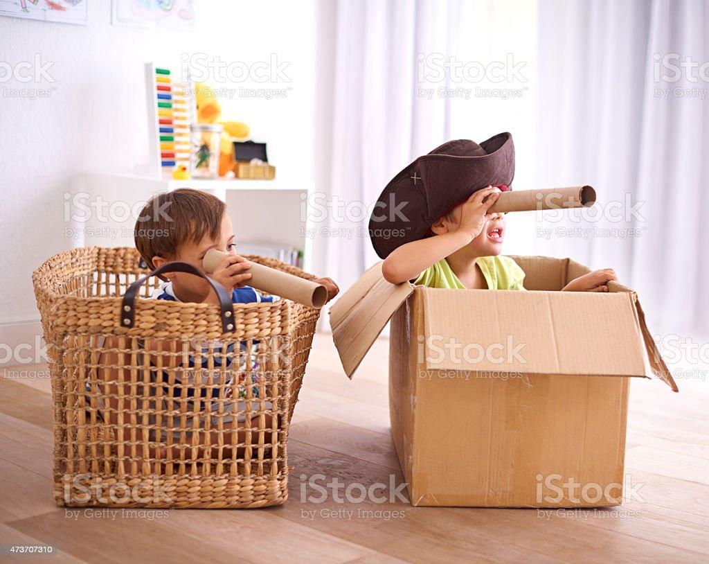 Pirates at play stock photo