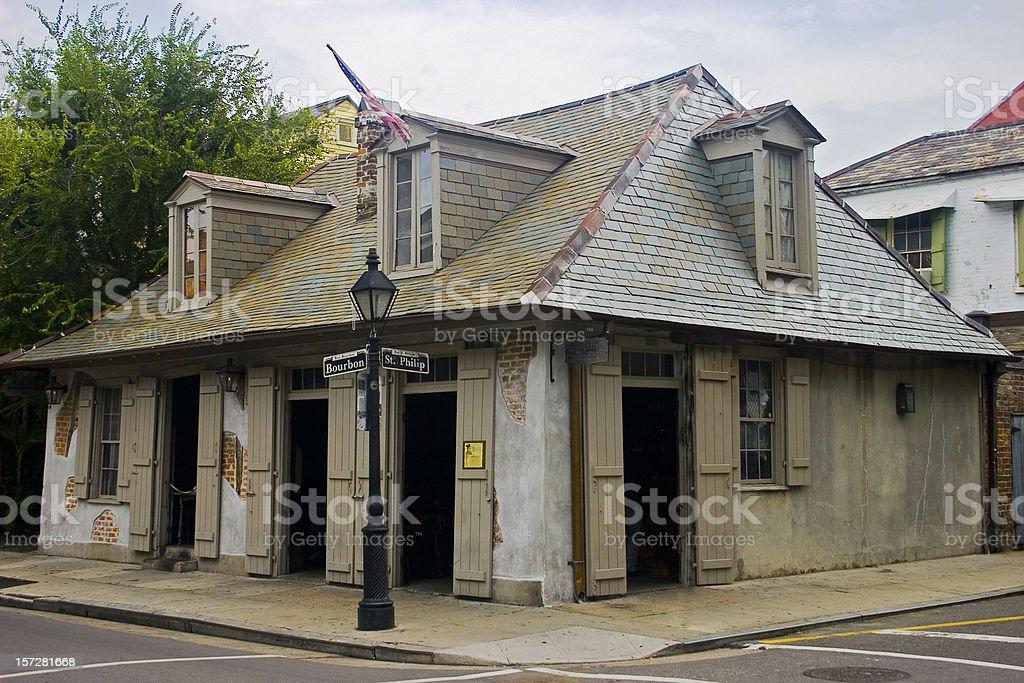 Pirate's corner on Bourbon street stock photo