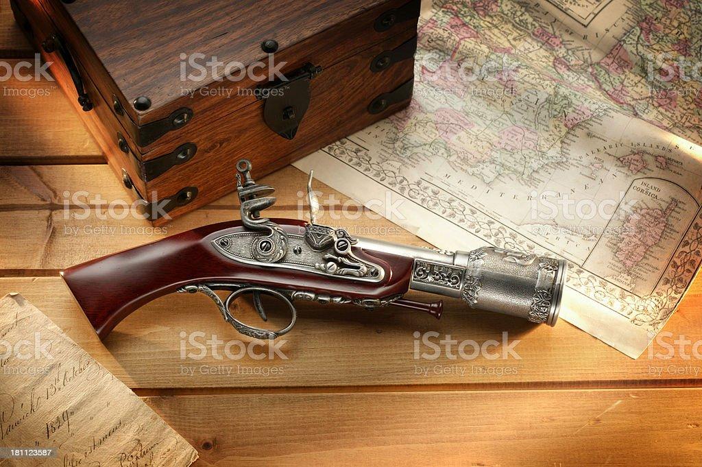Pirate's Gun stock photo