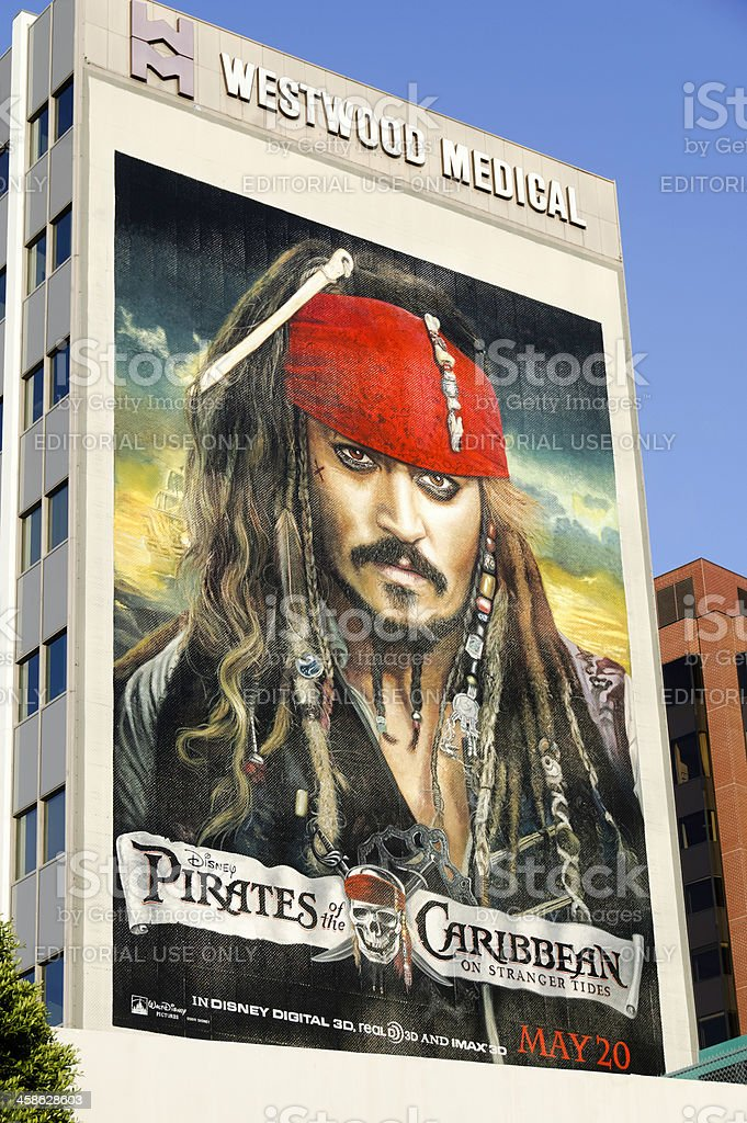 Pirates of the Caribbean: On Stranger Tides - Billboard Poster royalty-free stock photo