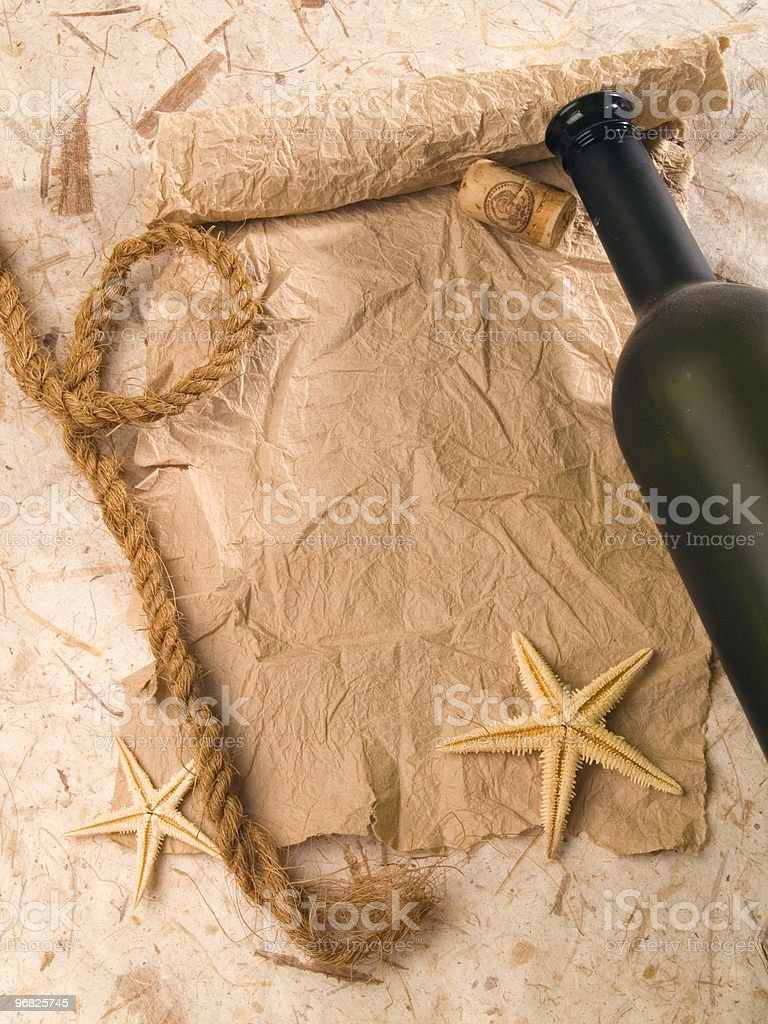 Pirate's scroll. royalty-free stock photo