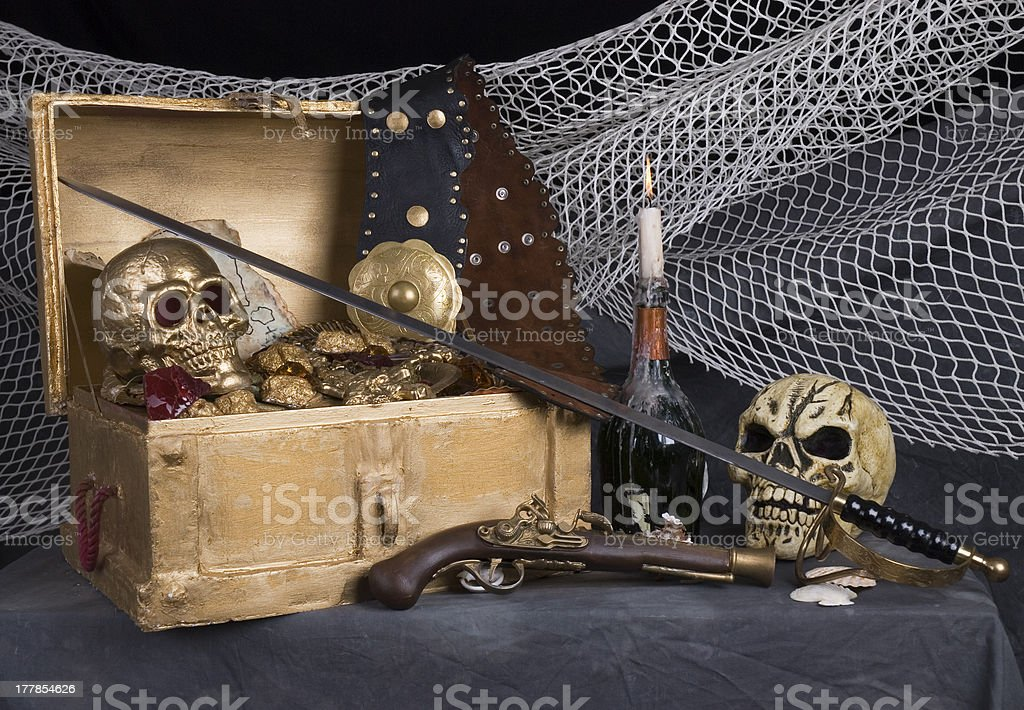 pirates treasure royalty-free stock photo