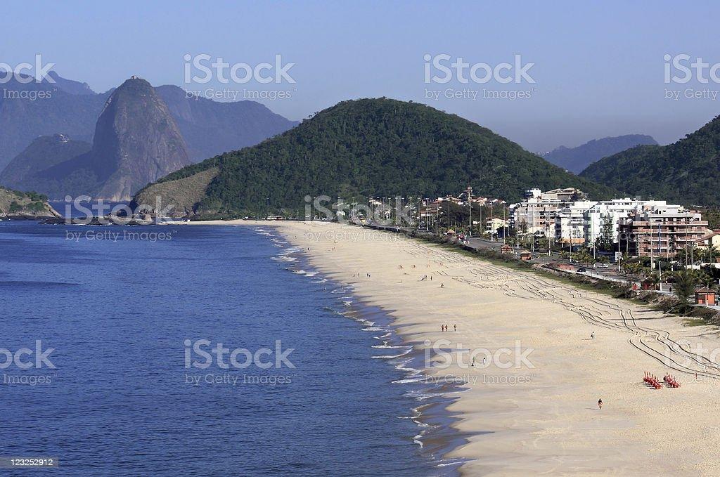 Piratininga Beach in Niteroi city royalty-free stock photo