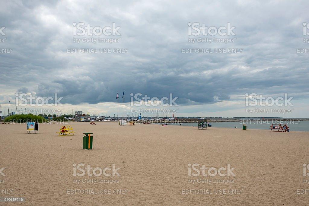 Pirita beach in Tallinn, Estonia stock photo