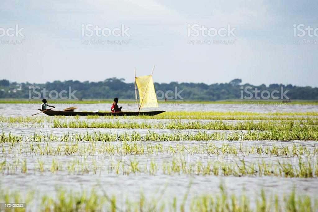 pirogue ride royalty-free stock photo