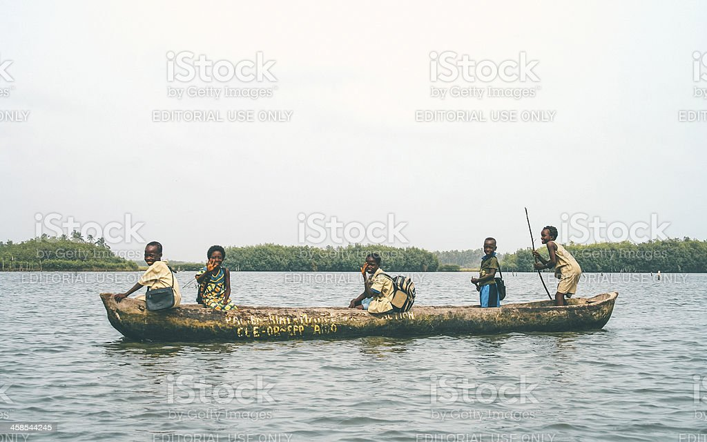 Pirogue ride. royalty-free stock photo