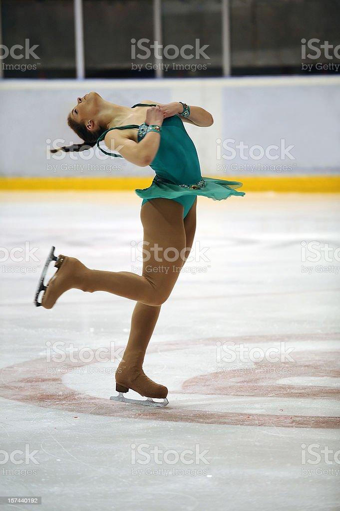 Pirouette royalty-free stock photo